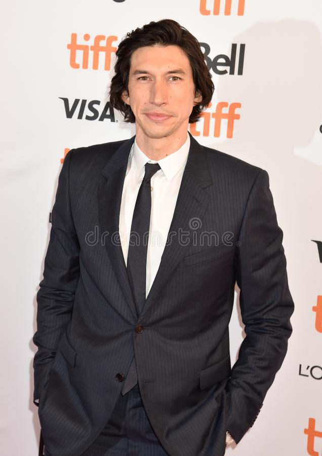Adam Driver at premiere for Marriage Story in toronto. Actor Adam Driver at premiere at TIFF2019 for both The Report movie and Marriage Story . Also plays as stock photo