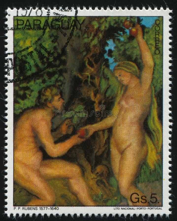 Adam e véspera por Rubens imagem de stock royalty free