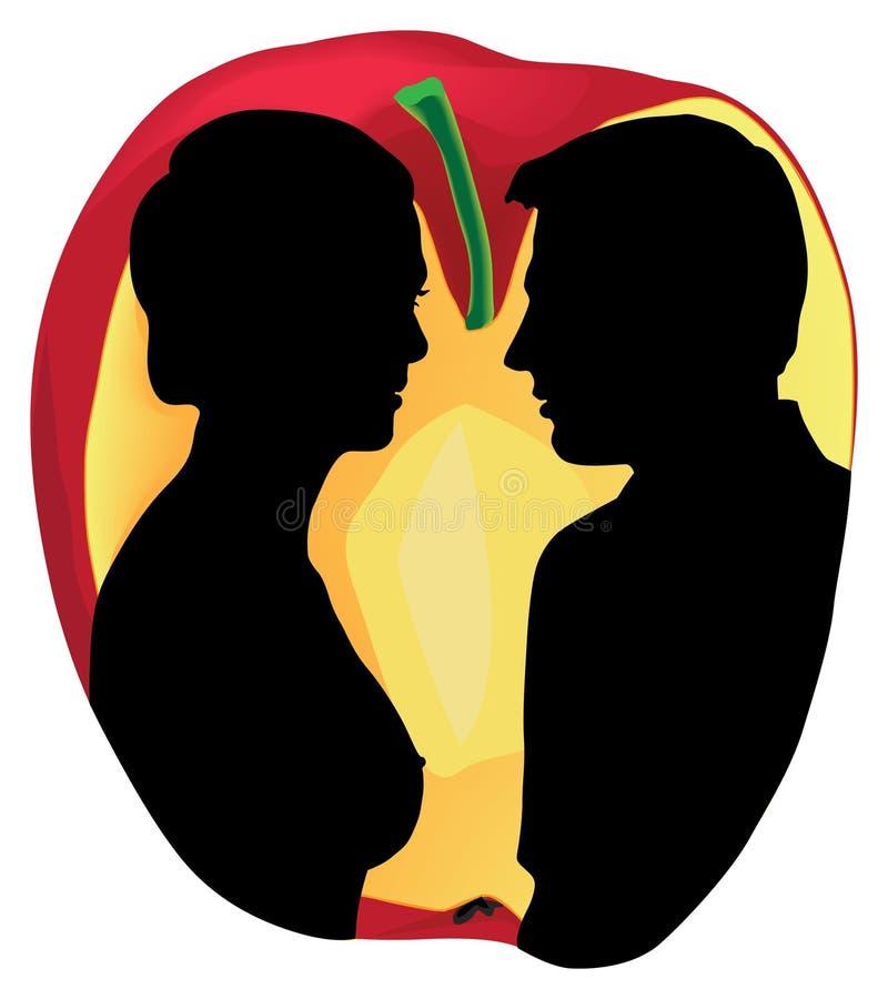 Adam en Eva royalty-vrije stock afbeelding