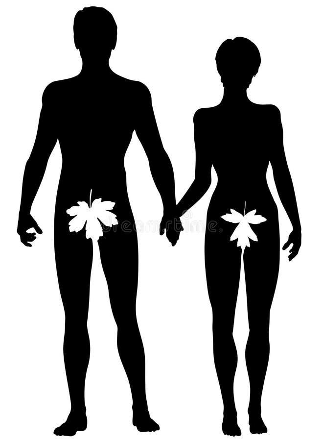 Adam en Vooravond stock illustratie