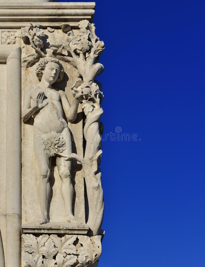 Adam i grzech pierworodny obraz stock