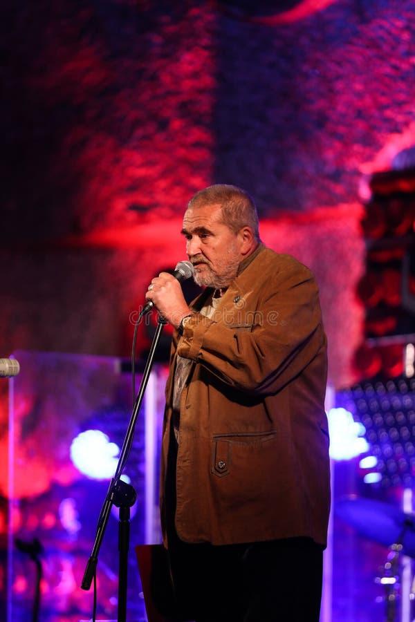 Adam Kawonczyk Quartet que juega música en directo en la Cracovia Jazz All Souls Day Festival fotos de archivo
