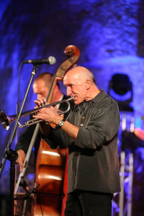 Adam Kawonczyk Quartet. WIELICZKA, POLAND - NOVEMBER 2, 2015: Adam Kawonczyk Quartet playing live music at The Cracow Jazz All Souls' Day Festival in The stock photo