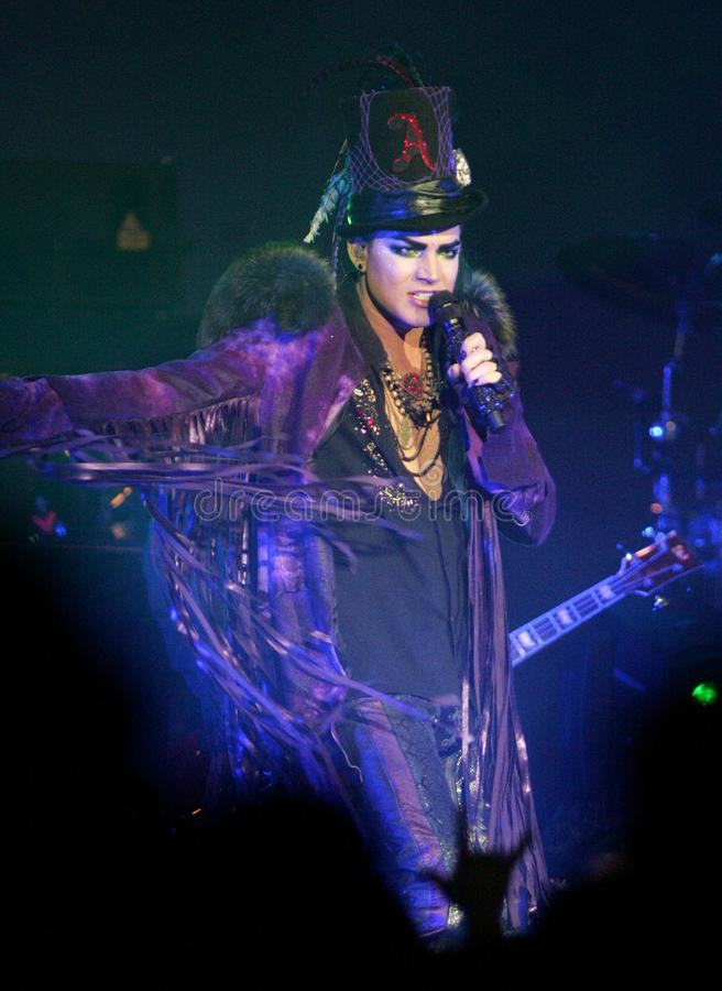 Adam Lambert performs in concert royalty free stock photos