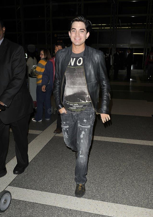 adam lotniska ca Lambert rozwolnienie widzieć piosenkarz obraz royalty free
