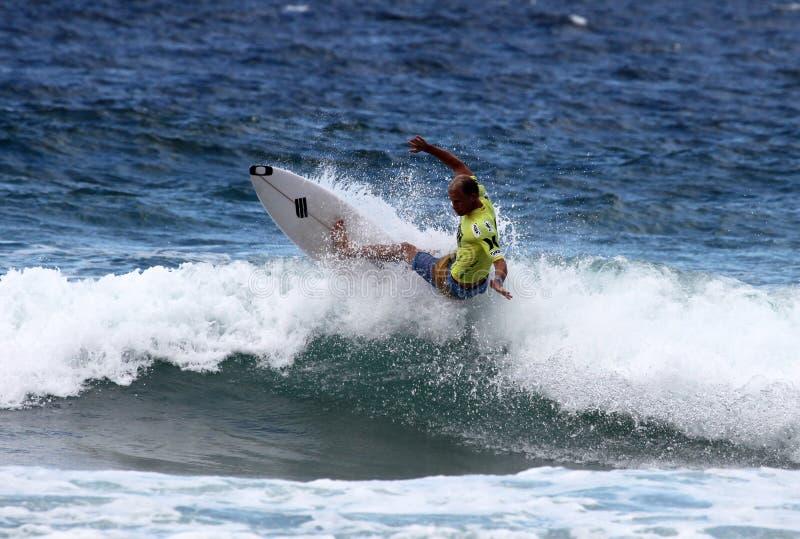 Adam Melling - Manly Australia. MANLY AUSTRALIA - FEBRUARY 17: Adam Melling WCT surfer from Australia surfing in the Australian Open of Surfing at Manly Beach stock images