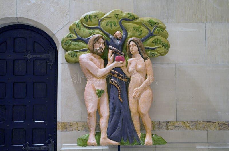 Adam och helgdagsafton royaltyfri bild