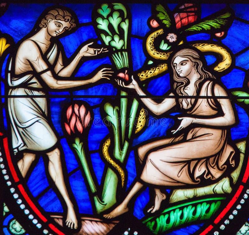 Adam och helgdagsafton och arvsynden royaltyfri foto