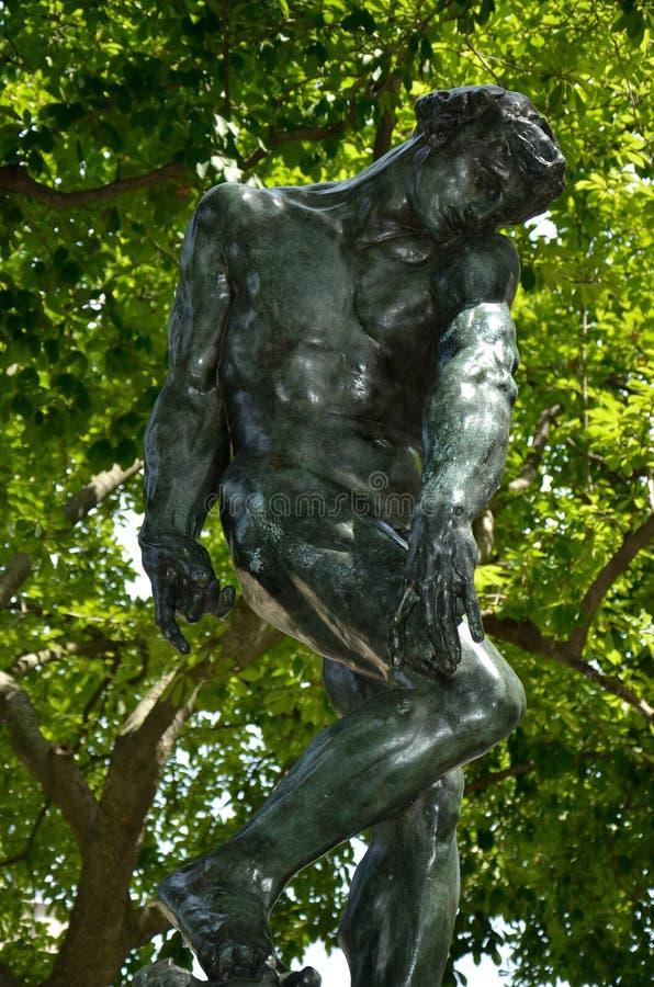 Adam - Rodin Museum stock foto