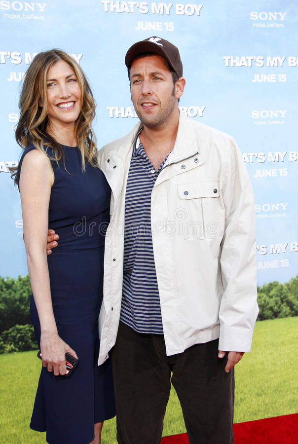 Adam Sandler en Jackie Sandler royalty-vrije stock foto's