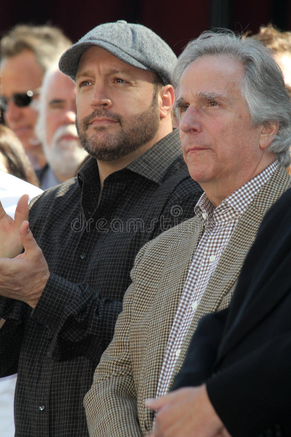Adam Sandler, Henry Winkler, Kevin James stock afbeeldingen