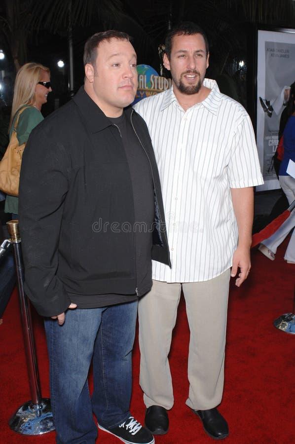 Adam Sandler, Kevin James stock foto