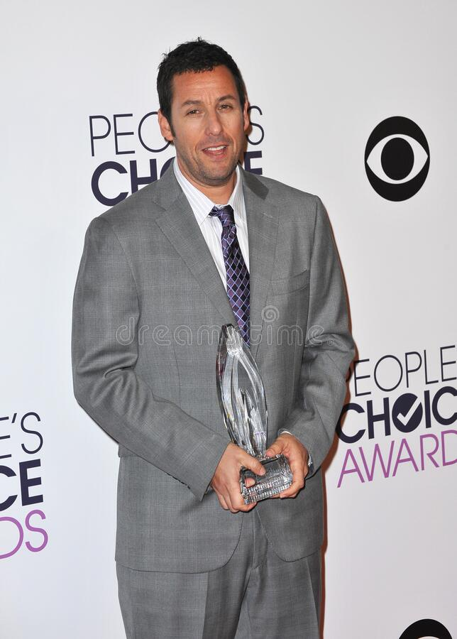 Adam Sandler. LOS ANGELES, CA - JANUARY 7, 2015: Adam Sandler at the 2015 People's Choice  Awards at the Nokia Theatre L.A. Live downtown Los Angeles stock photos
