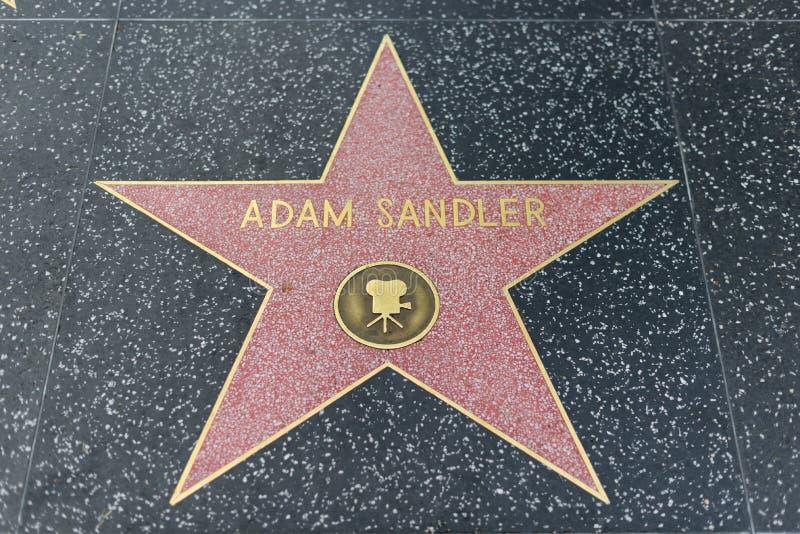 Adam Sandler-ster op de Hollywood-Gang van Bekendheid royalty-vrije stock foto