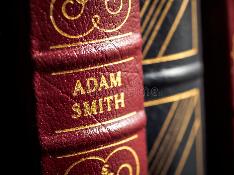 Adam Smith author. On capitalism and monetary policy stock image