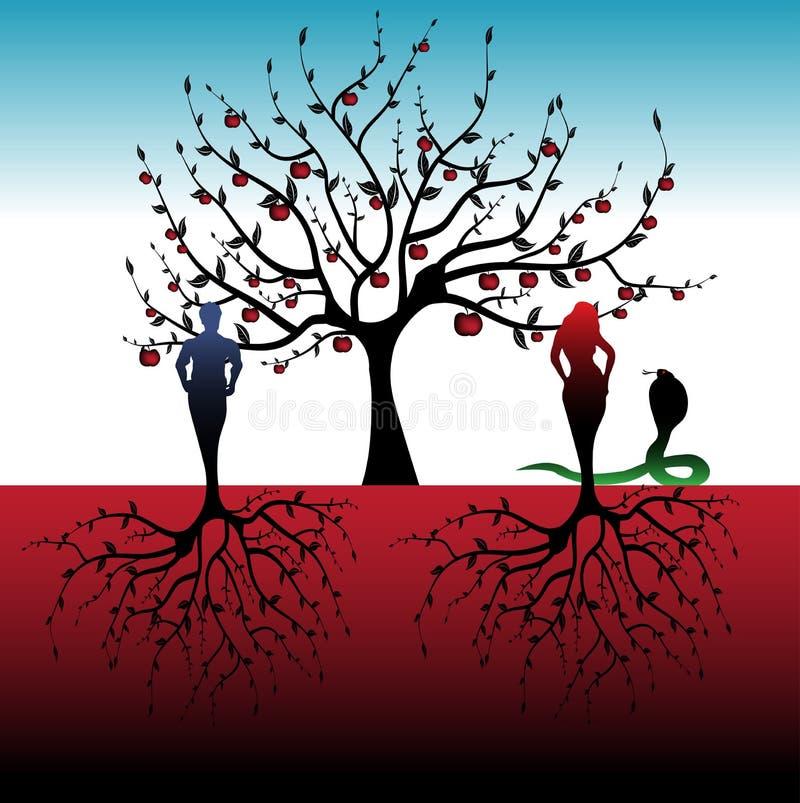 Adam und Eve stock abbildung