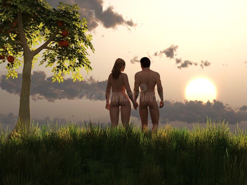 adam wigilia Eden royalty ilustracja