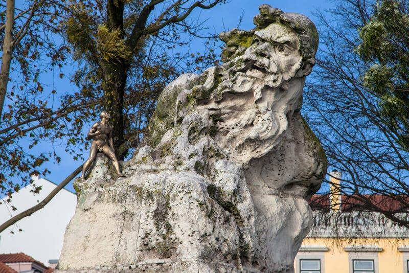 Adamastor Statue in Lisbon stock photography