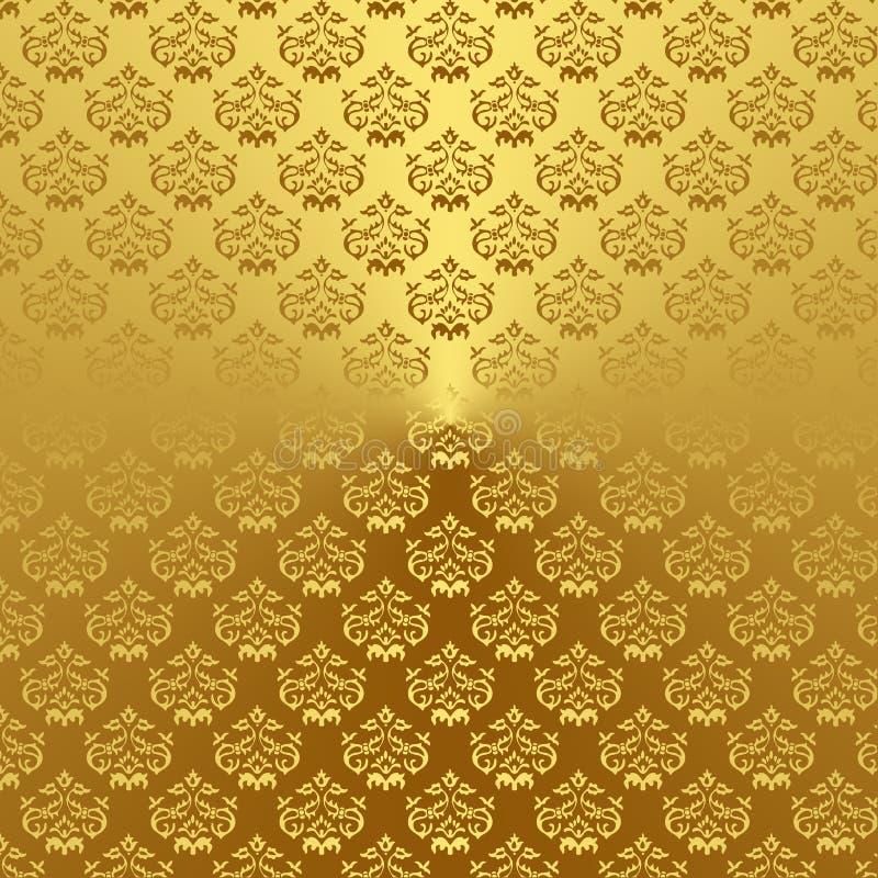 Adamaszek (1) złoto ilustracja wektor
