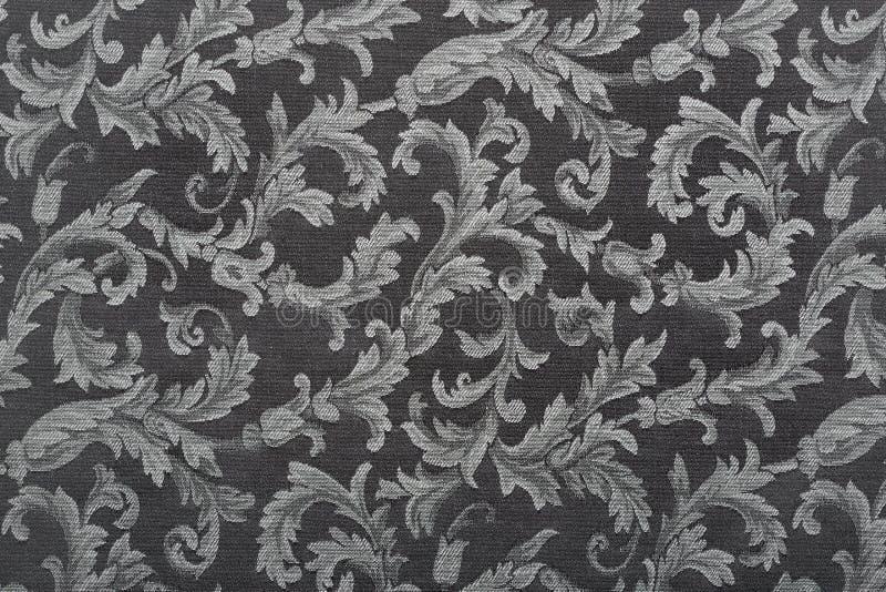 Adamaszek, czerni tekstury deseniowy tło zdjęcie royalty free