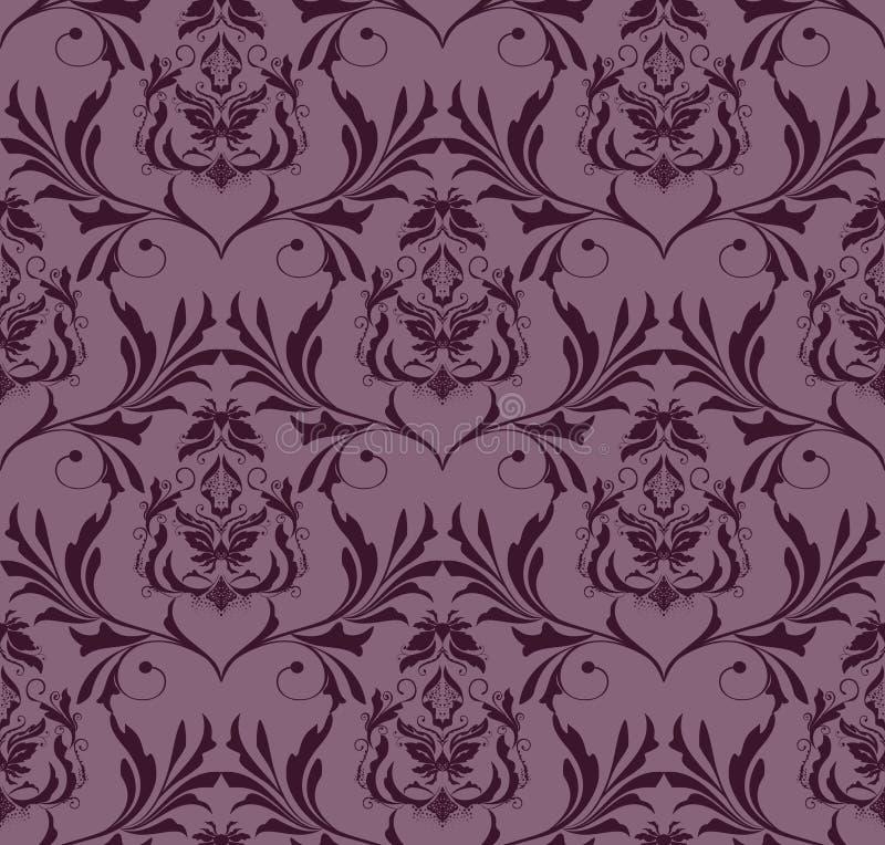 Download Adamaszkowa Bezszwowa Tapeta Ilustracja Wektor - Ilustracja złożonej z wizerunki, jedwab: 13332887