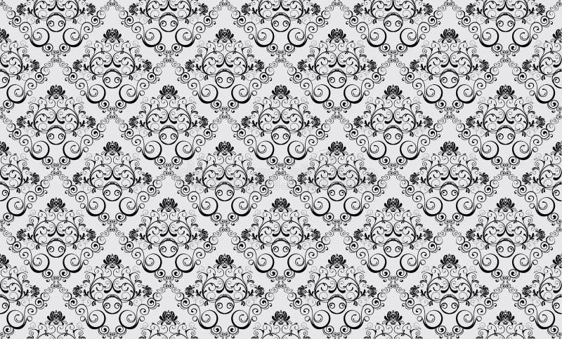 Download Adamaszkowa Bezszwowa Tapeta Ilustracja Wektor - Ilustracja złożonej z wzór, foremność: 13333034