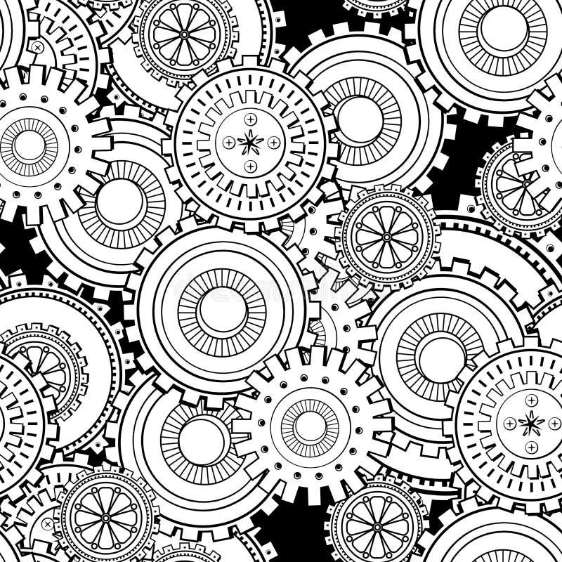 Adamaszkowy bezszwowy abstrakcjonistyczny wektoru wzór ilustracji