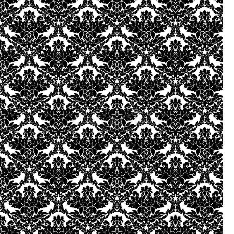 Adamaszkowy bezszwowy deseniowy w zawiły sposób projekt Luksusowy królewski ornament, wiktoriański tekstura dla tapet, tkanina, z royalty ilustracja