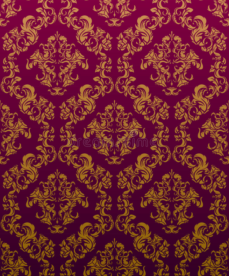 ADAMASZKOWY Tapetowy Burdeos obrazy royalty free