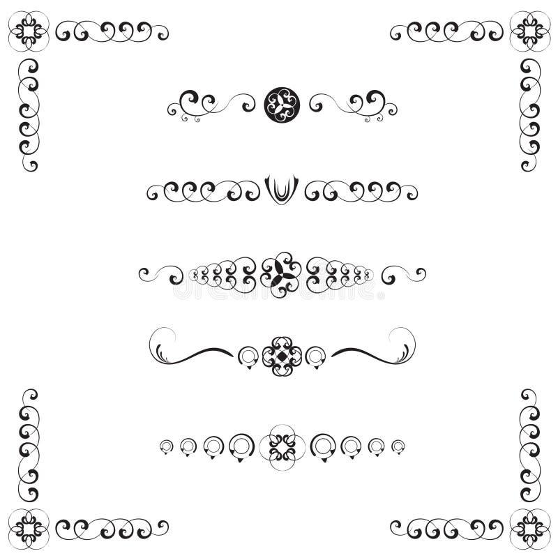 Download Adamaszkowych Dividers Stylowy Tekst Ilustracja Wektor - Obraz: 11563033