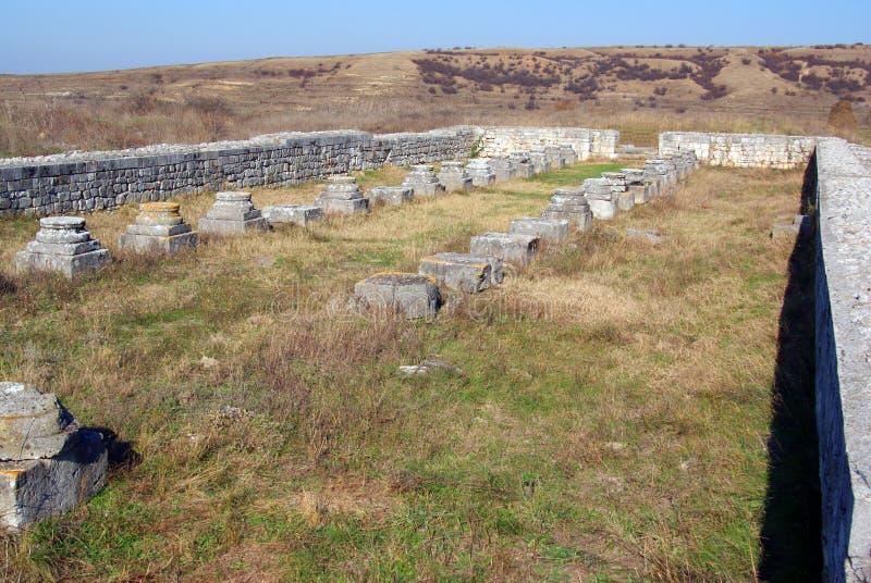 Adamclisi Festung gebildet durch römisches Reich stockfotos