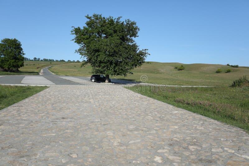 Adamclisi ruiny w Rumunia, droga forteca zdjęcia stock