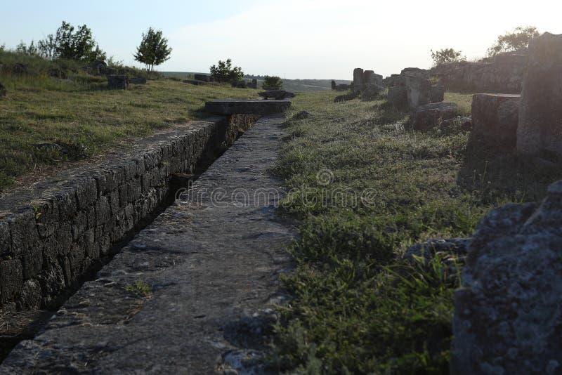 Adamclisi ruiny w Rumunia, wewnętrzny widok zdjęcie royalty free