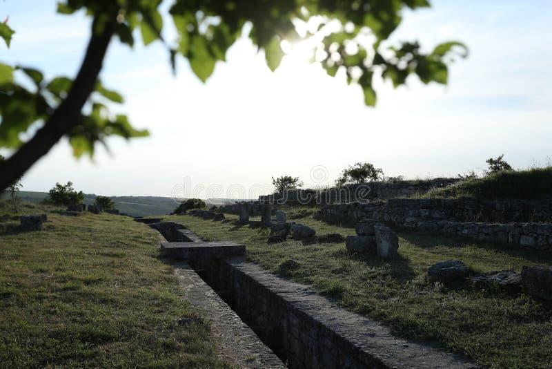 Adamclisi ruiny w Rumunia, wewnętrzny widok zdjęcia royalty free