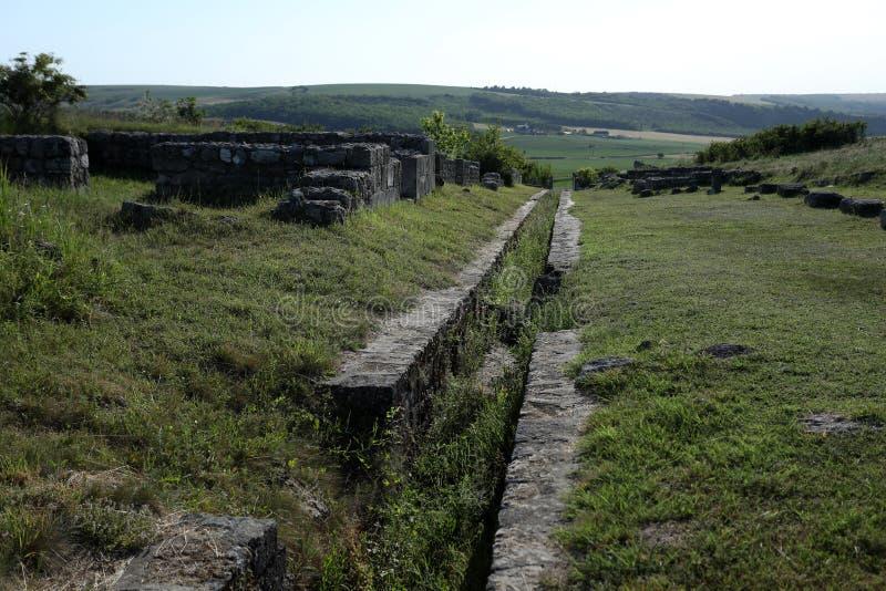 Adamclisi ruiny w Rumunia, zakończenie widok fotografia royalty free
