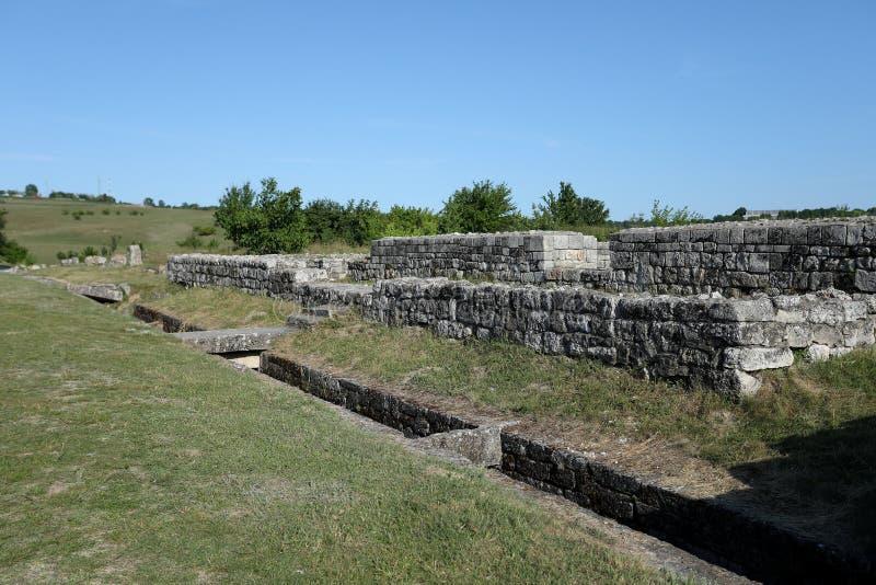 Adamclisi ruiny w Rumunia, zakończenie widok zdjęcie stock