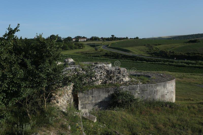 Adamclisi ruiny w Rumunia, zewnętrzne ściany obrazy royalty free