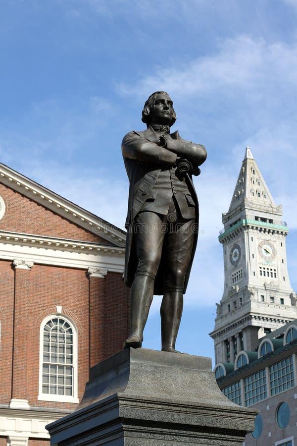 adams bostonu ma Samuel statua zdjęcia stock