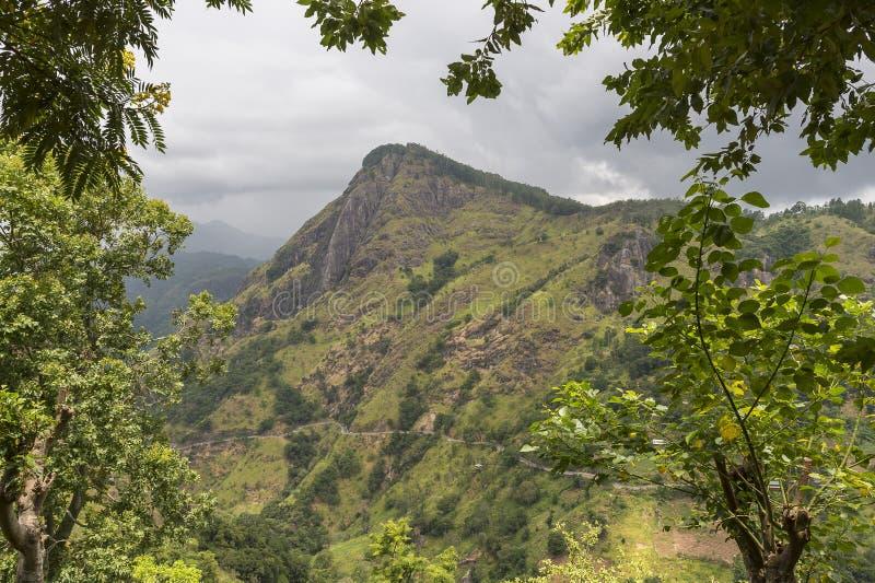 Adams maximum Ella, Sri Lanka arkivfoto