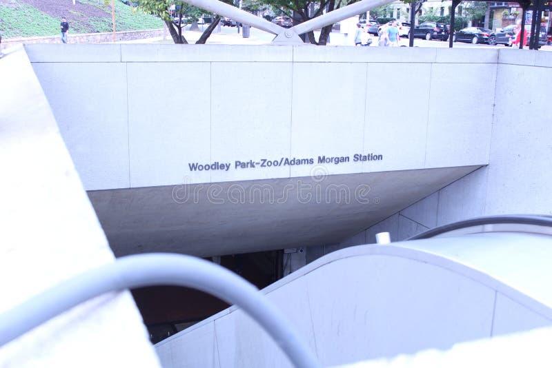 Adams Morgan metro station in Washington stock image