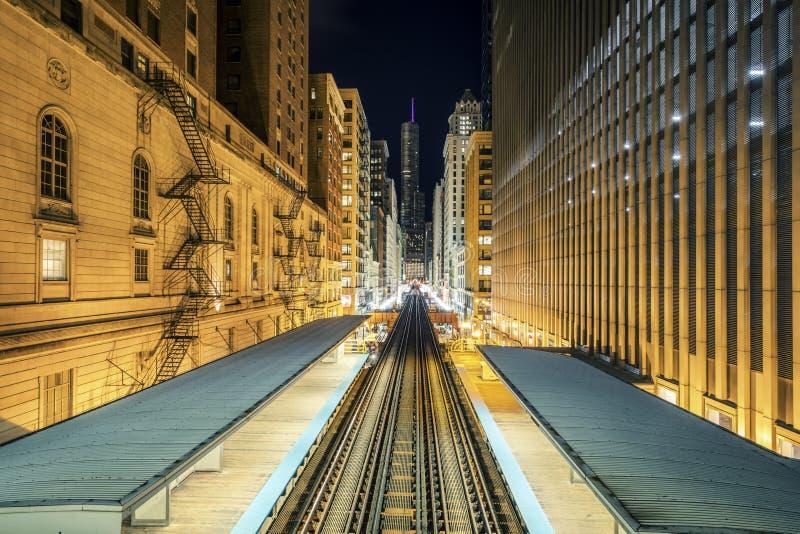 Adams Wabash Train line royalty free stock photography