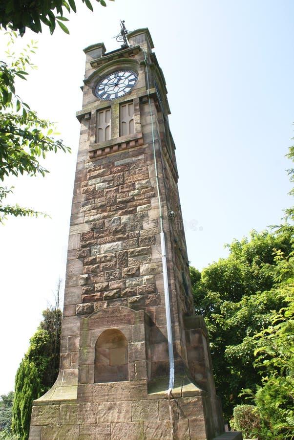 Adams zegarowy wierza, Tunstall park, Staffordshire, Anglia fotografia stock