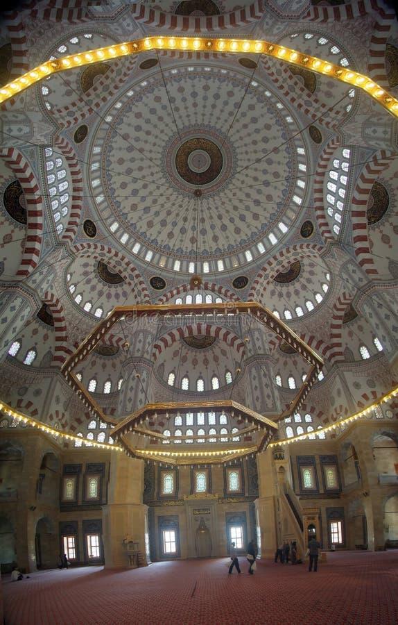 Adana środkowy meczet wśrodku obraz stock