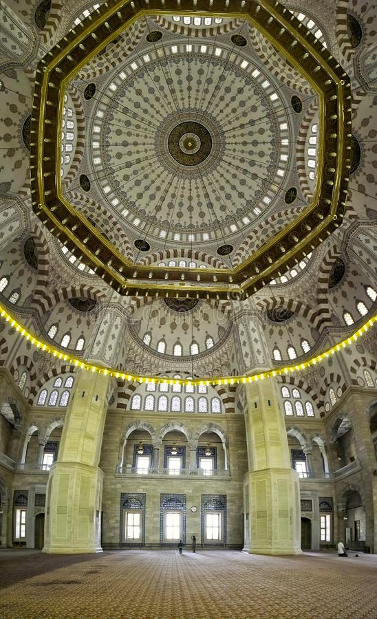 Adana central mosque dome detail to inside stock photos