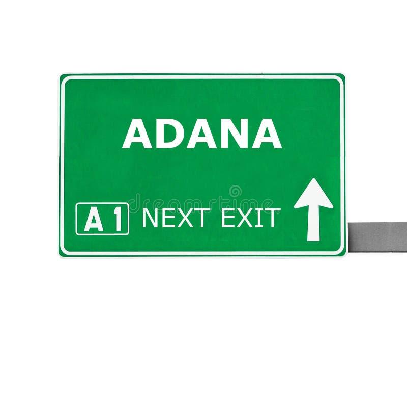 ADANA drogowy znak odizolowywający na bielu zdjęcia royalty free