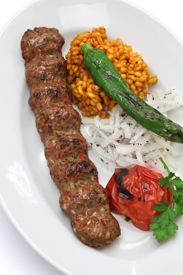 Adana kebab, turecki jedzenie obraz stock