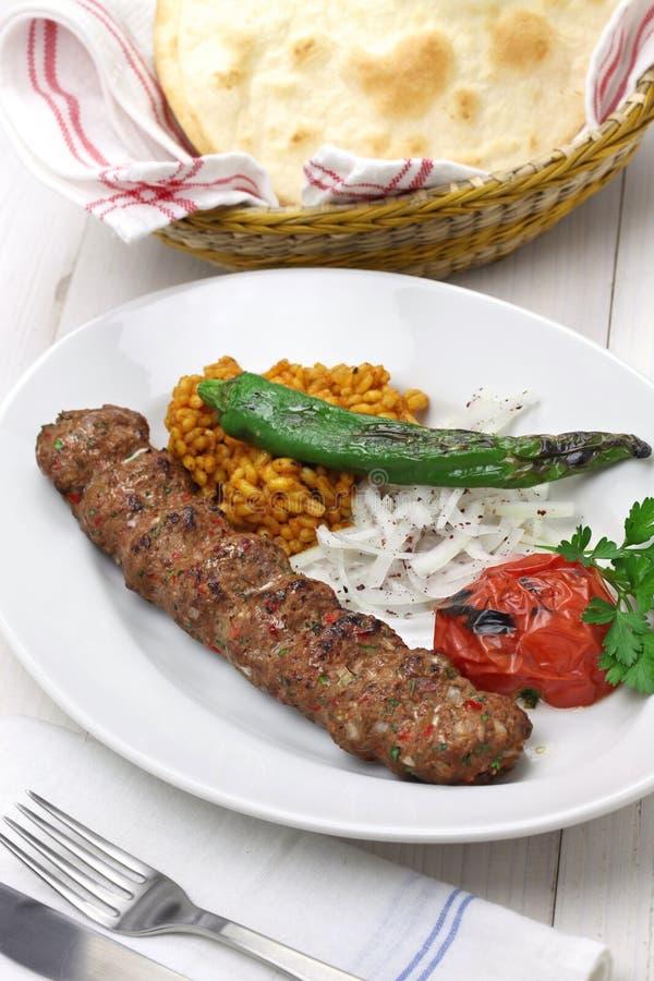 Adana kebab, turecki jedzenie obrazy royalty free