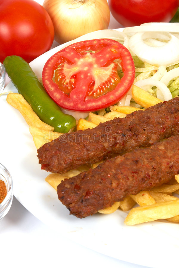 Download Adana kebap stock image. Image of sauce, lunch, brown - 1294689