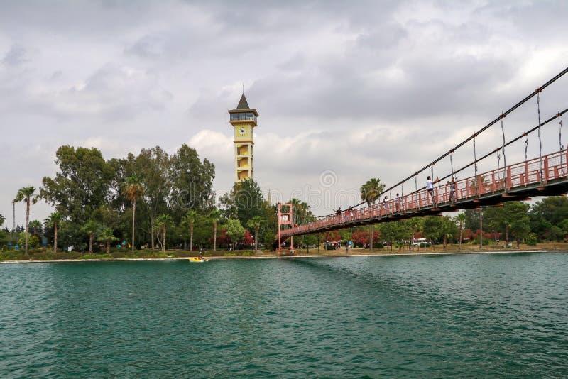 Adana, Turcja/, Czerwiec 6, 2019, Adana Yuregir zegarowy wierza fotografia royalty free