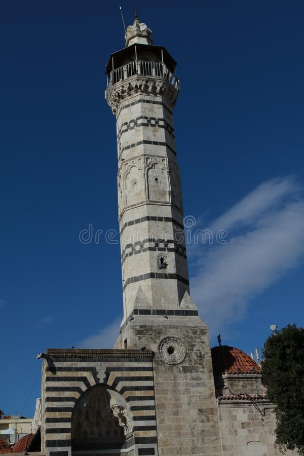A view of Ulu Mosque, Adana. Adana, Turkey- Built in 1541, Ulu Mosque is one of the historical places of Adana. February 16, 2012 royalty free stock photo
